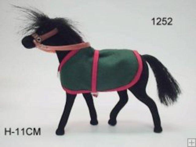 Flock Pony Zwart
