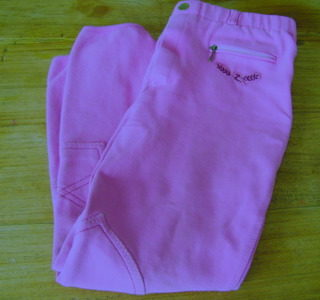 Rijbroek Horze pull on roze, maat 150