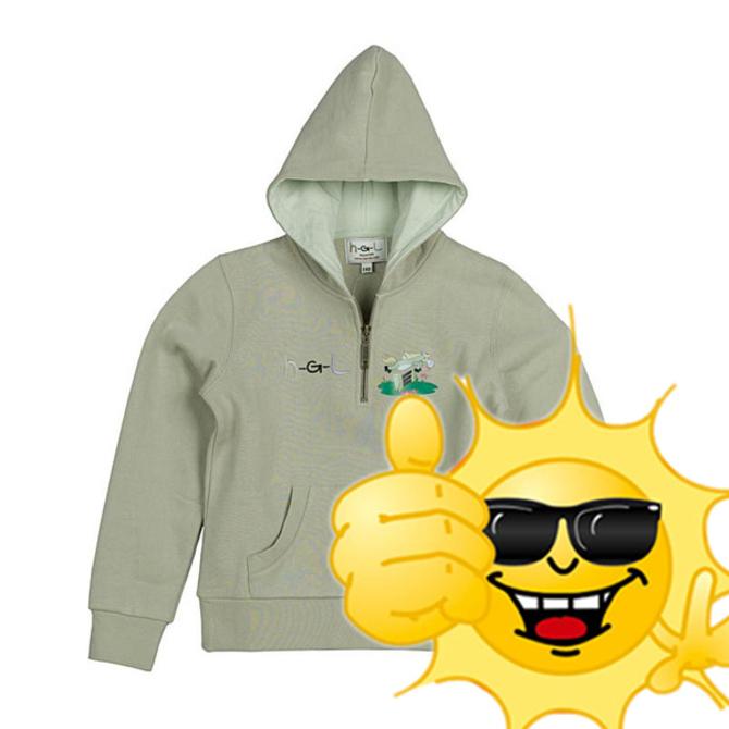 Sweater  HGL Horze Kaki Groen, maat: 150