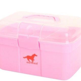 Poetskoffer Red Horse Rijk gevuld Cashmere roze