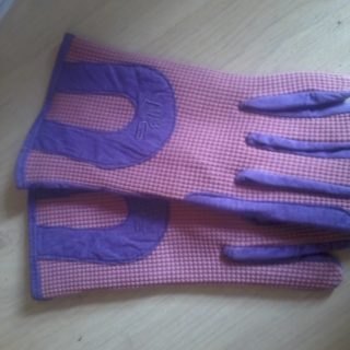 Handschoenen gehaakt amara roze/lilla