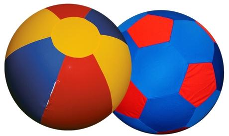 Hoes Voor Jolly Ball 100 cm Rood/Geel/blauw